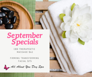 All About You Day Spa - Specials