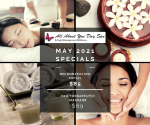 All About You Day Spa Green Valley May 2021 SpecialsAAYDS 2021-05 Specials